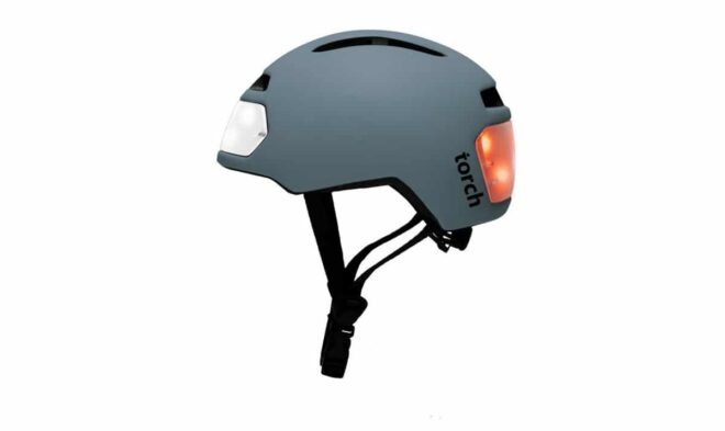 Casque Torch Gris Vue Laterale Light On